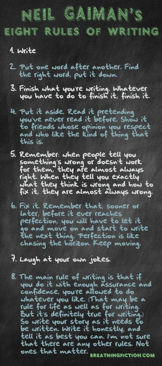 8 rules fo writing