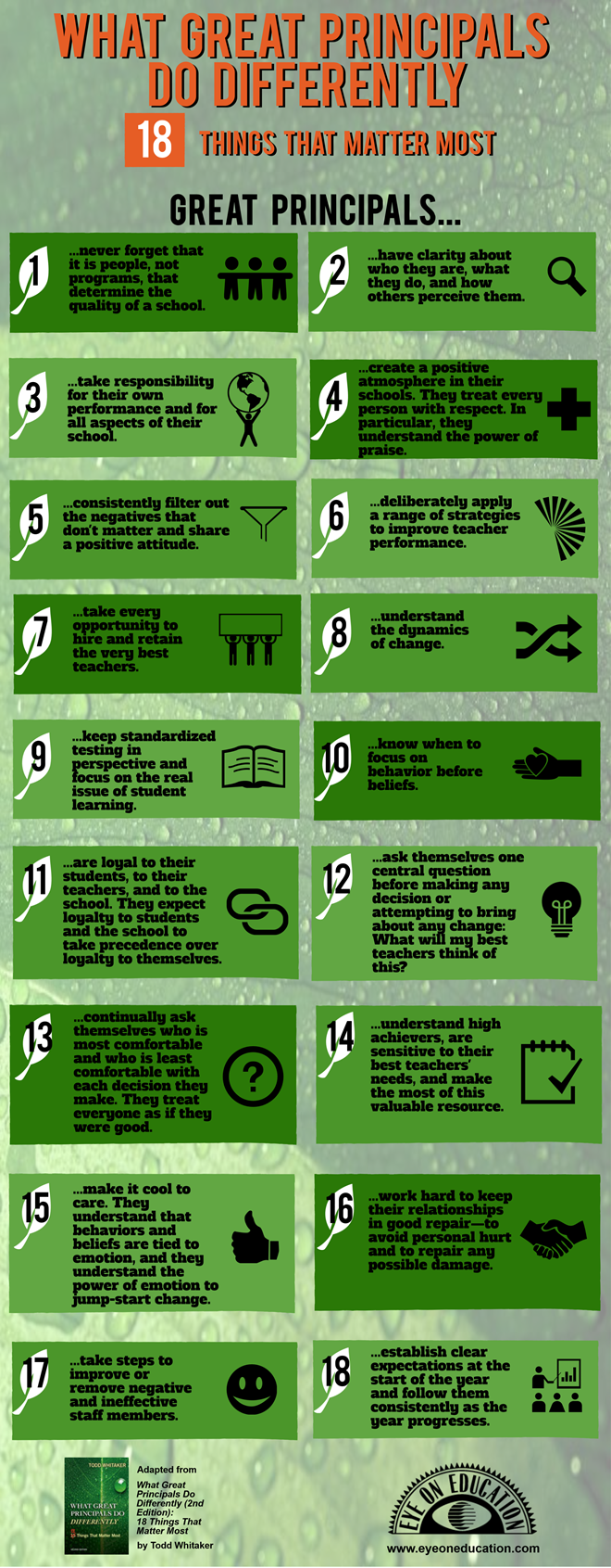 18 characteristics of great school principals