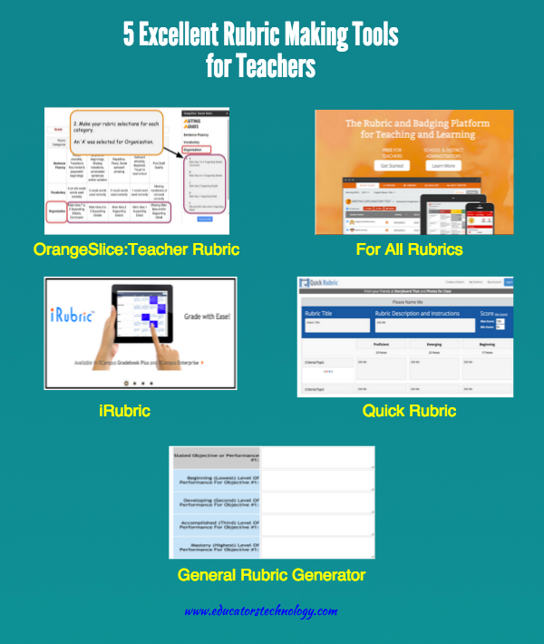 5 Excellent Rubric Making Tools For Teachers Educational