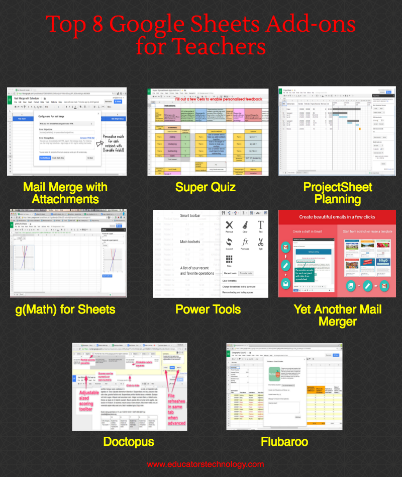 8 Excellent Google Sheets add-ons for Teachers