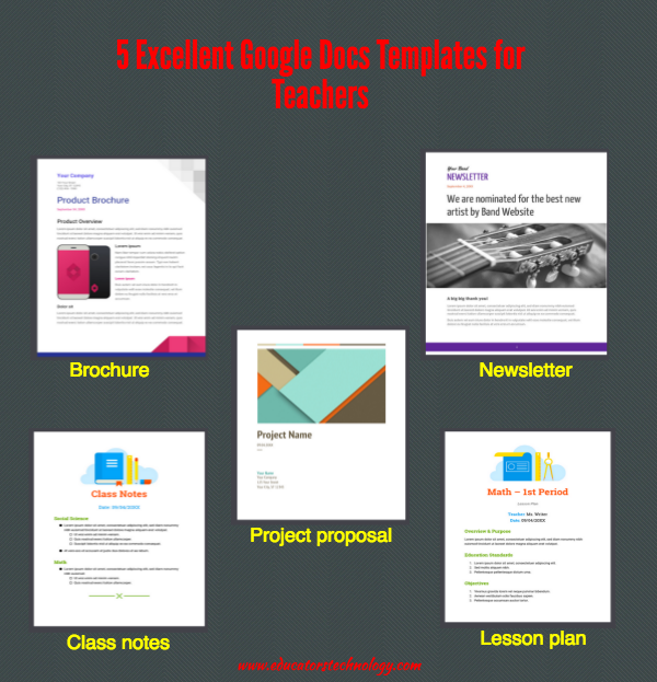 Excellent Google Docs Templates For Teachers Educational - Google docs project proposal template