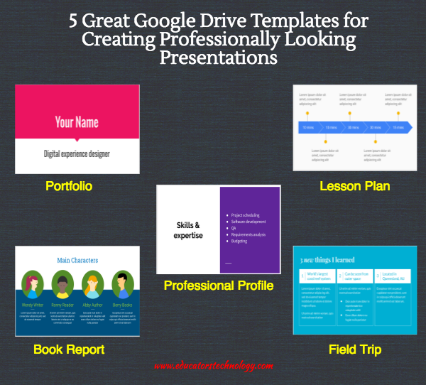 5 great google drive templates for creating professionally looking
