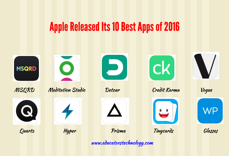 Apple Released Its 10 Best Apps of 2016