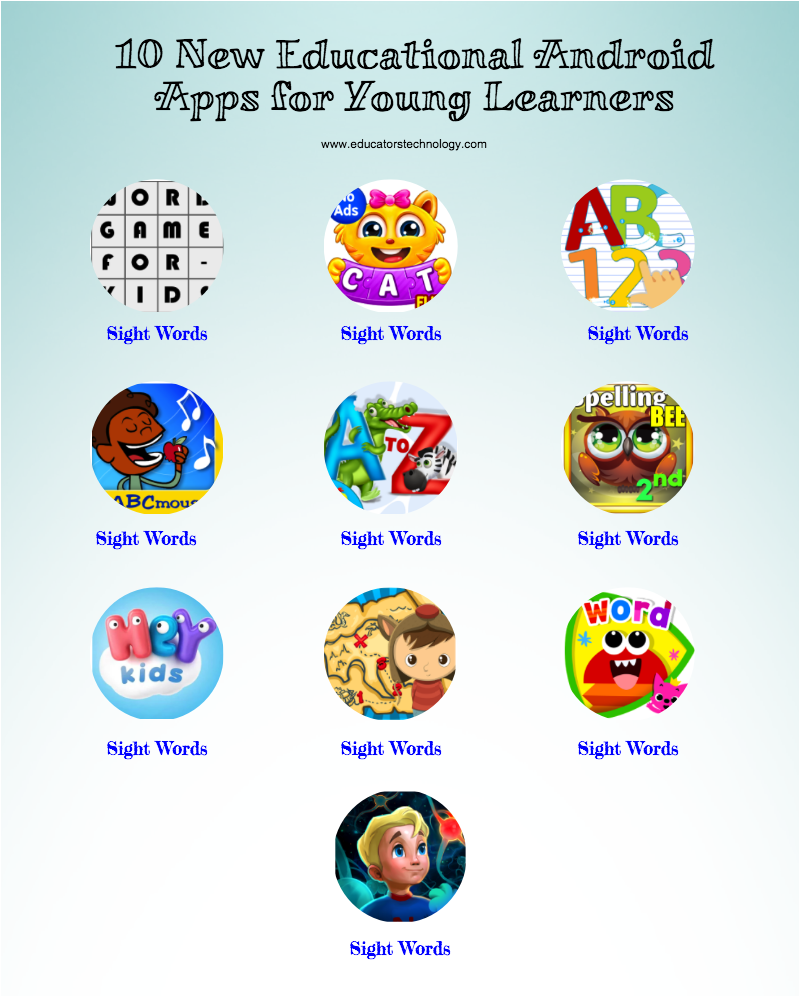 10 New Educational Android Apps for Young Learners