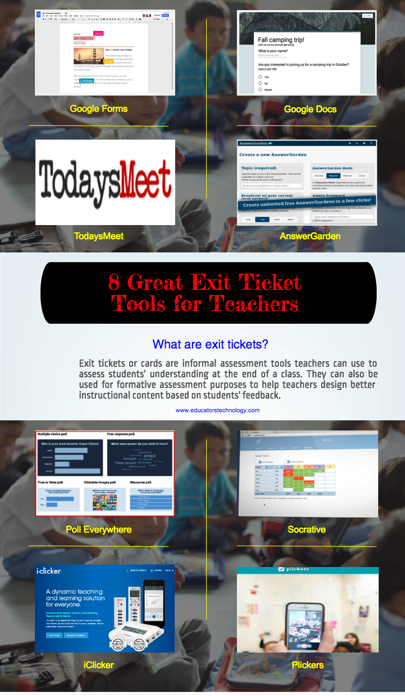educatorstechnology.com - 8 Great Exit Ticket Tools to Try Out in Class