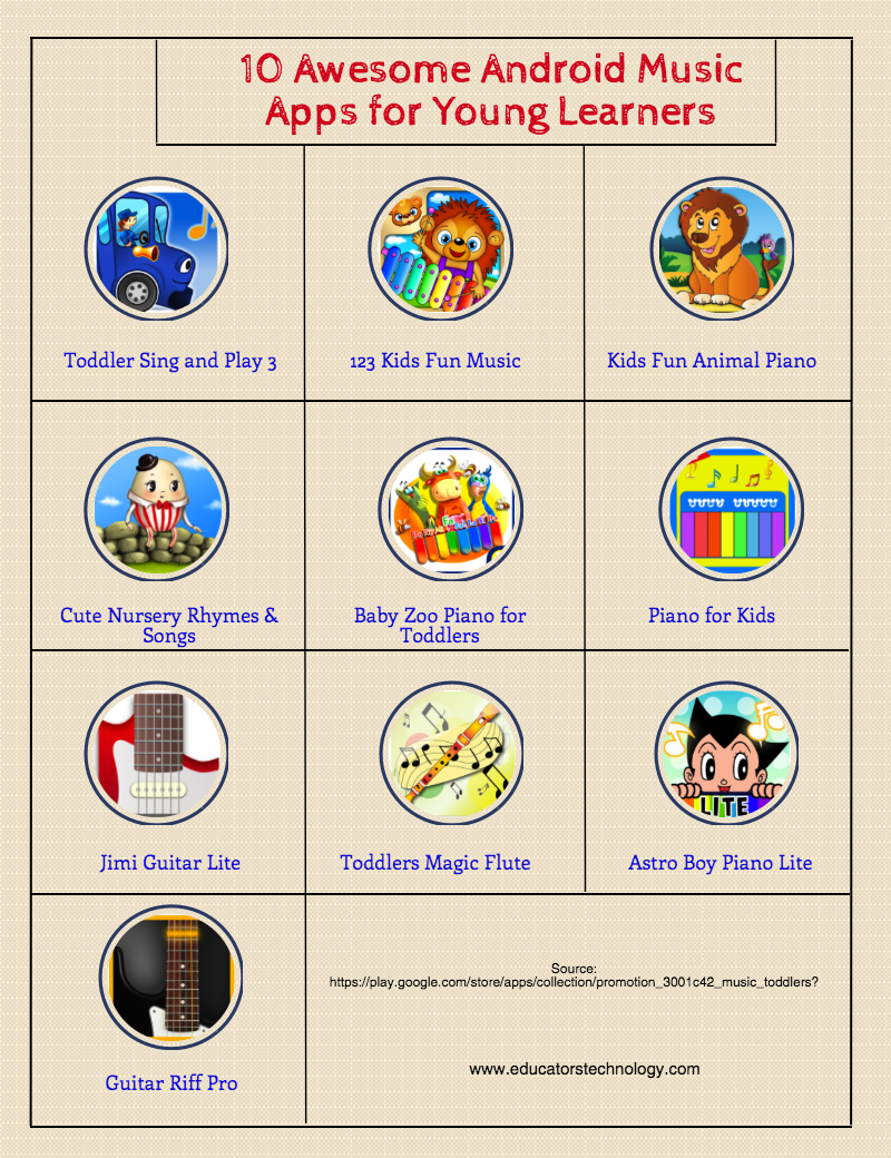 Some Good Android Music Apps for Kids | Educational Technology and