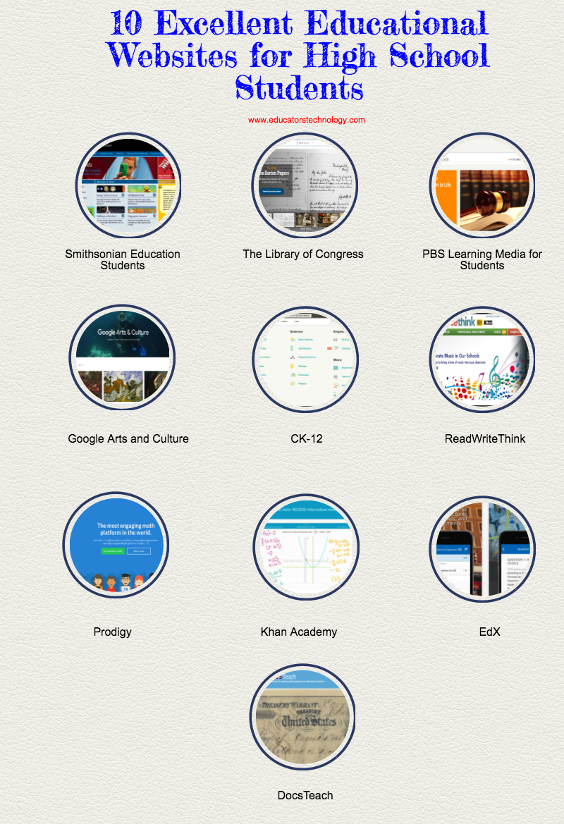 10 Excellent Educational Websites for High School Students