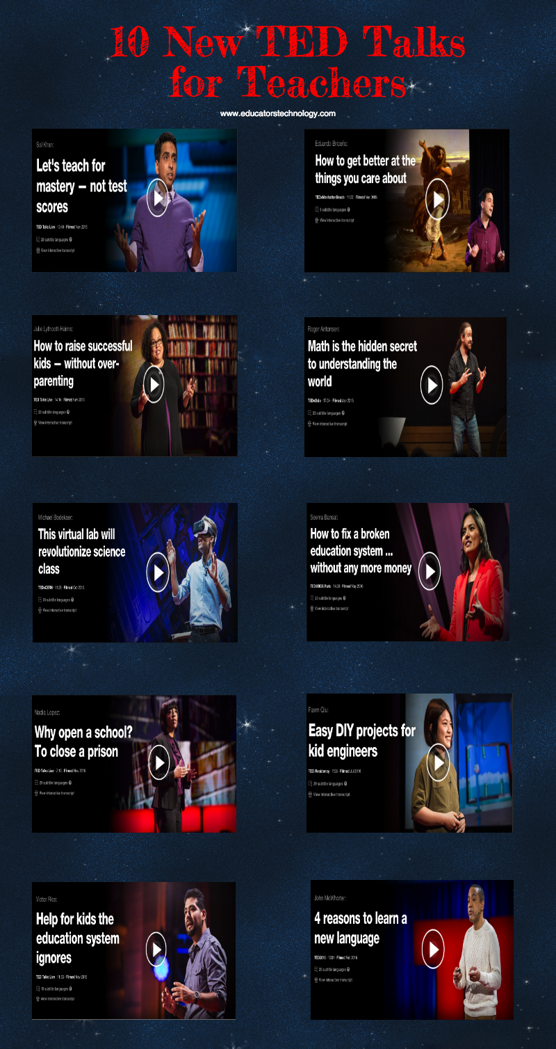 10 New TED Talks for Teachers ~ Educational Technology and Mobile ...