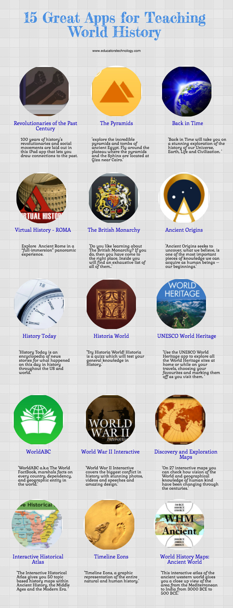 15 Great Hair Updos For Thanksgiving: 15 Great Apps For Teaching World History