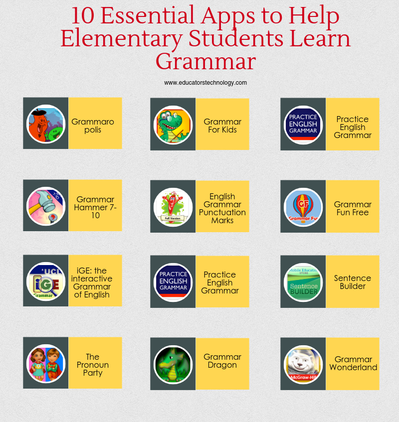 10 Essential Apps to Help Elementary Students Learn Grammar