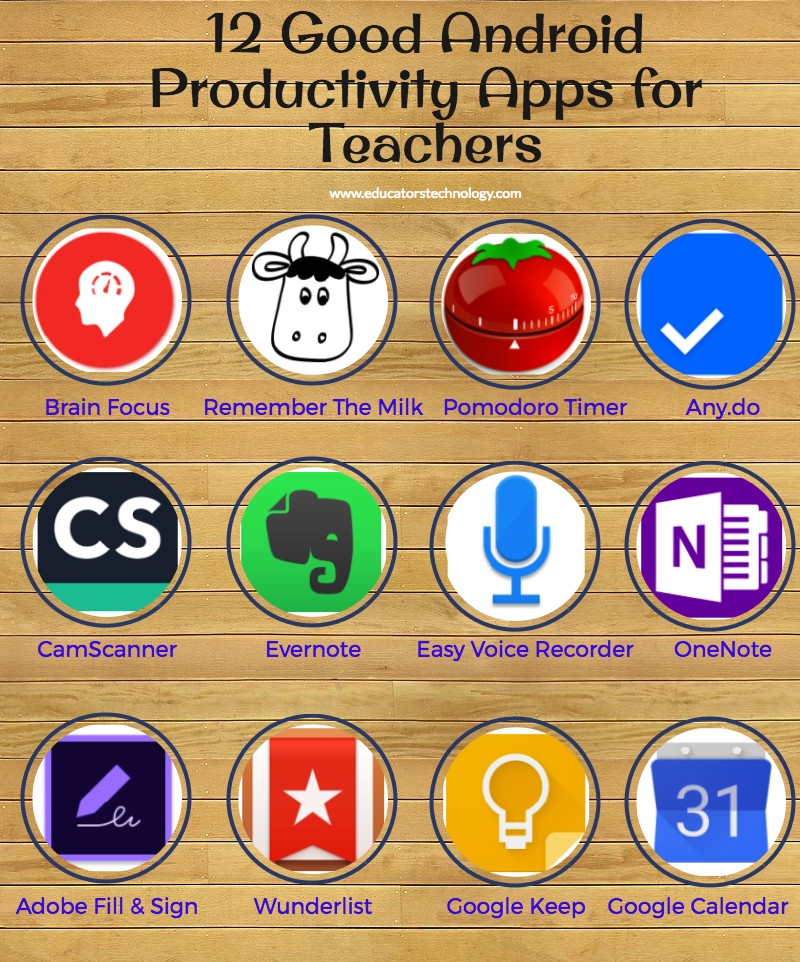 12 Good Android Productivity Apps For Teachers Educational