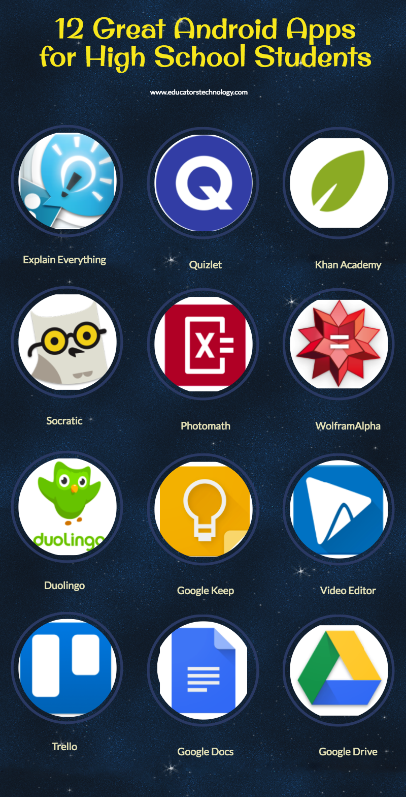 12 Great Android Apps for High School Students