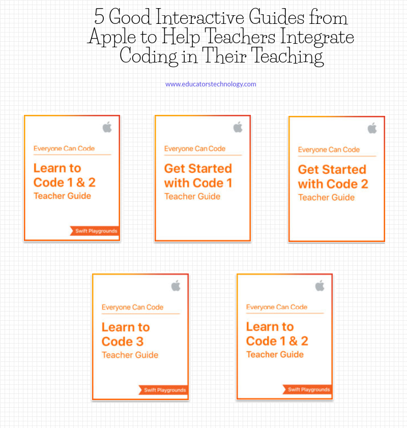 5 Good Interactive Guides from Apple to Help Teachers Integrate Coding in Their Teaching