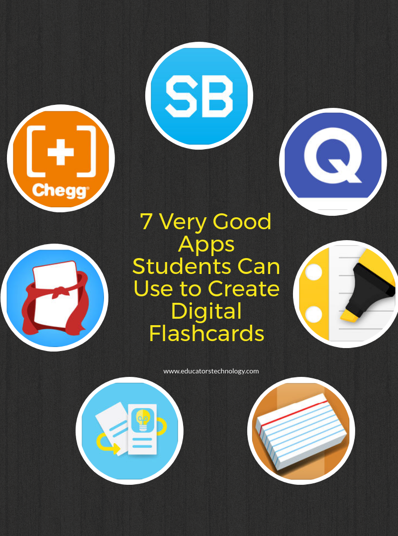 7 Very Good Apps Students Can Use to Create Digital Flashcards