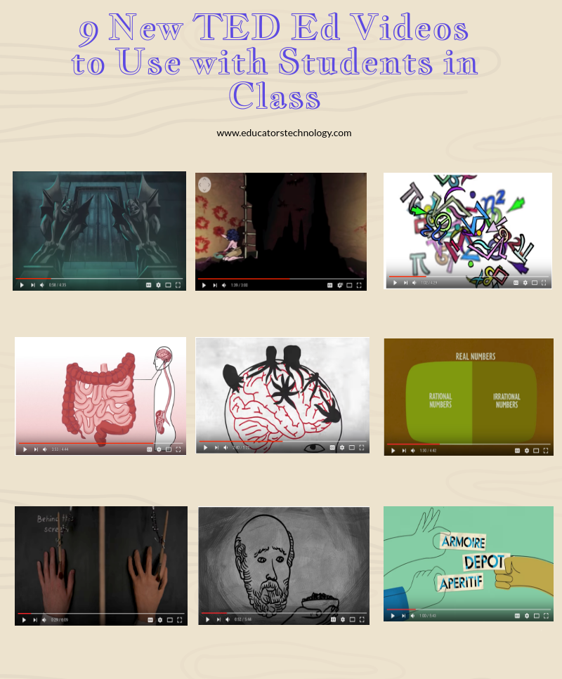 9 New TED Ed Videos to Use with Students in Class