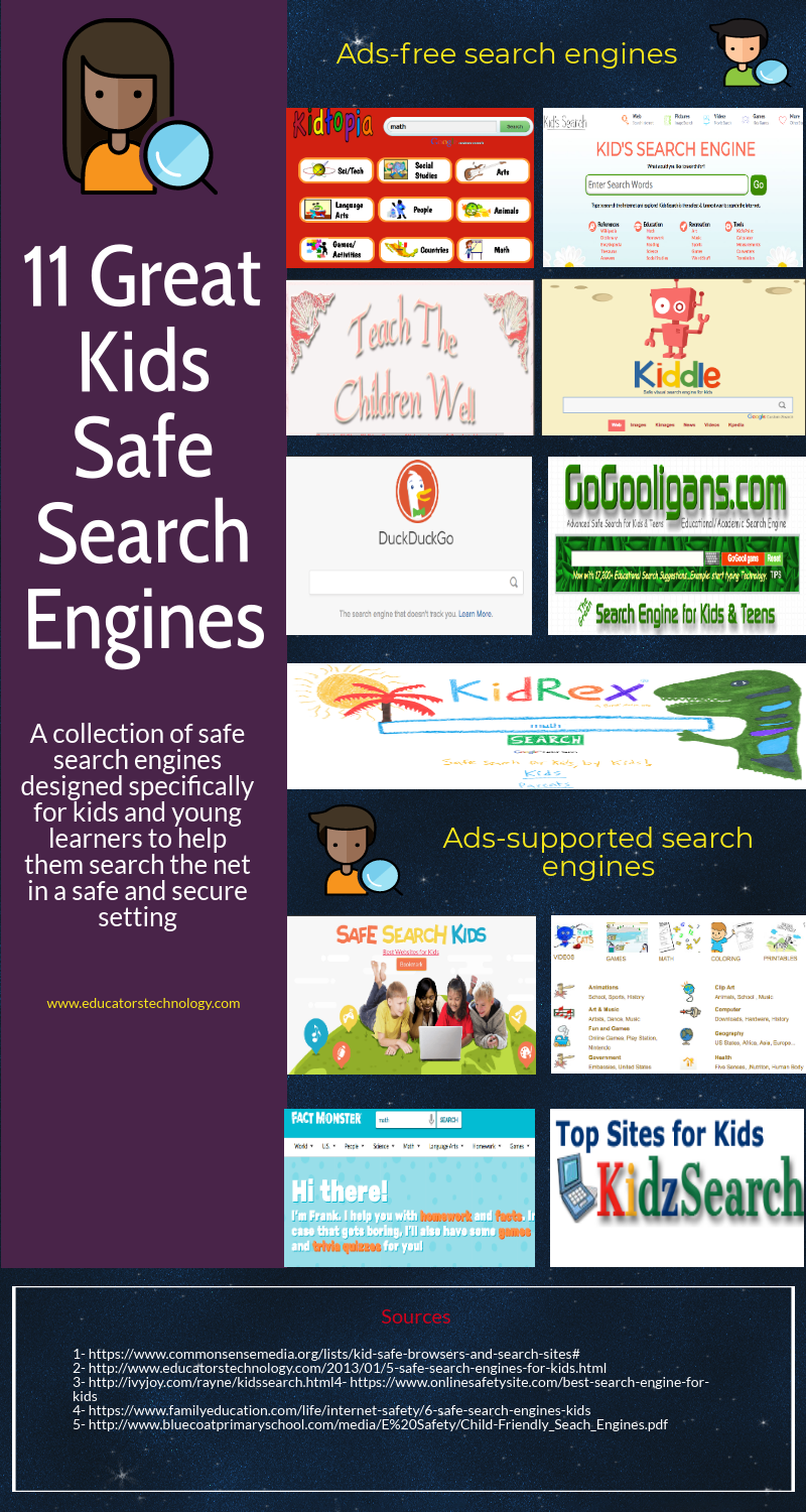 11 Great Kids Safe Search Engines | Educational Technology
