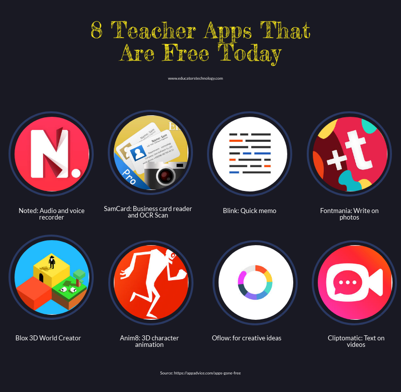 8 teacher apps that are free today educational technology and 8 teacher apps that are free today educational technology and mobile learning reheart Choice Image