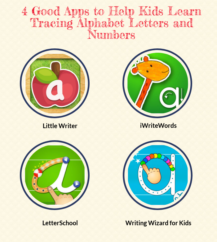 4 Good Apps to Help Kids Learn Tracing Alphabet Letters and Numbers ...